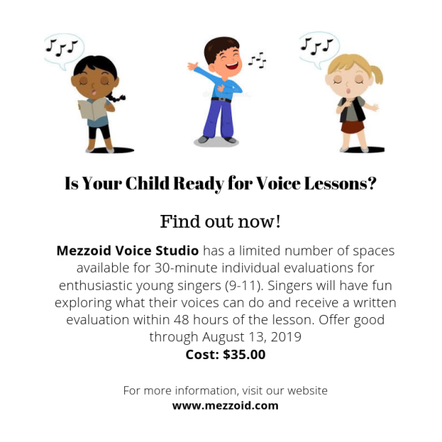 Is your child READY for voicelessons?