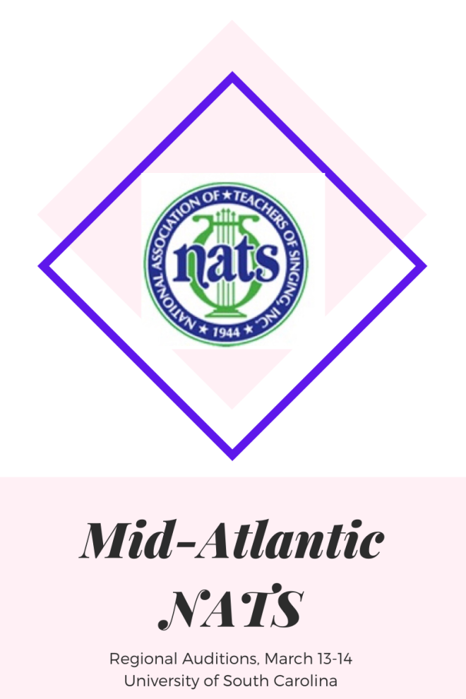 Mid-Atlantic NATS Regional Auditions blogpost